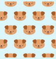 seamless pattern with cute sleeping dogs vector image vector image