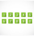 set of green number icons vector image vector image