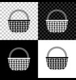 shopping basket icon isolated on black white and vector image vector image
