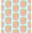Sketch pop corn in vintage style vector image vector image