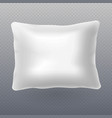 soft white realistic pillow isolated on vector image vector image
