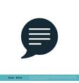 speech bubble talk icon logo template design eps vector image vector image