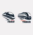 speed train logo template stylized symbols set vector image