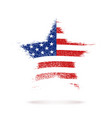 star in american flag vector image
