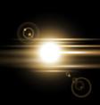 sunrise light effect golden color vector image