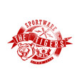 tigers sportswear vector image