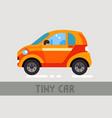 tiny car vector image
