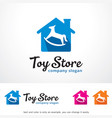 toy store logo template design vector image