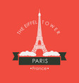travel banner with eiffel tower in paris france vector image vector image