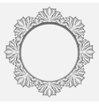 Vintage round baroque frame vector image vector image