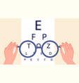 vision health eye ophthalmologist test glasses vector image