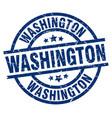washington blue round grunge stamp vector image vector image