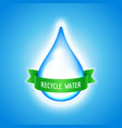 water drop with green ribbon vector image