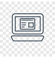 web de linear icon isolated on transparent vector image