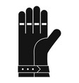 welding glove icon simple style vector image vector image