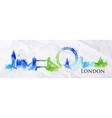 Silhouette watercolor London vector image