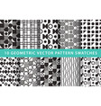 10 geometric pattern swatches vector image vector image
