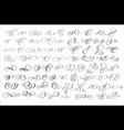 70 brush ink calligraphy swirls and flourishes set vector image