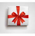 a red gift box bow 3d style vector image