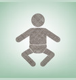 baby sign brown flax icon on vector image