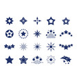 black star icons premium quality labels stars vector image