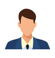 businessman faceless profile avatar