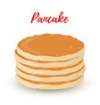 cartoon pile of pancakes homemade dessert vector image vector image