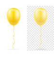 celebratory yellow transparent balloons pumped vector image vector image