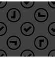 check mark web icon flat design Seamless pattern vector image vector image