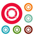 circle graph icons circle set vector image