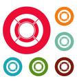 circle graph icons circle set vector image vector image