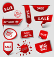 Collection web red pointers labels for shopping vector image
