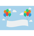 Colorful balloons with banner vector image