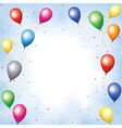 Colourful balloons and confett vector image vector image