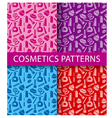 cosmetics seamless patterns vector image vector image