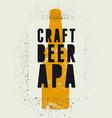 craft beer apa vintage style grunge poster vector image vector image