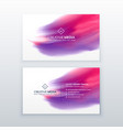creative business card with watercolor effect vector image vector image