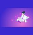 customer or hotline service concept vector image