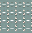 cute pug dog with bone seamless pattern vector image
