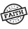 Faith rubber stamp vector image