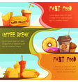 Fast Food 2 Retro Banners Set vector image