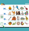 first letter a word educational game vector image vector image