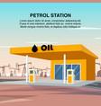 flat banner yellow petrol car station vector image vector image
