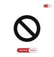 forbidden icon vector image vector image
