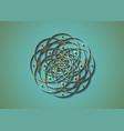 geometric mystic mandala gold sacred geometry vector image