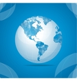 globe white vector image vector image