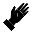 hand human isolated icon vector image vector image