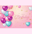 happy birthday celebration typography design vector image