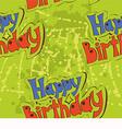 Happy birthday pattern design vector image vector image