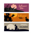 happy halloween promo sale banner can use for vector image vector image